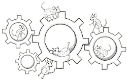 Mice on cogs